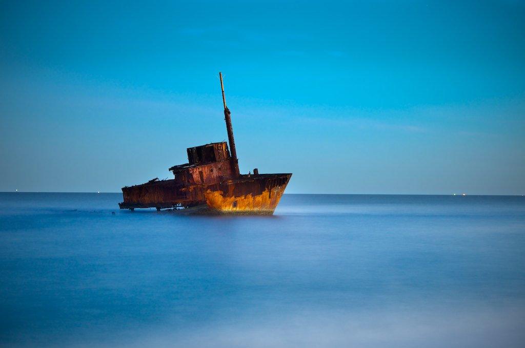 Stockton Shipwreck - MV Sygna, Stockton Beach, NSW, Australia