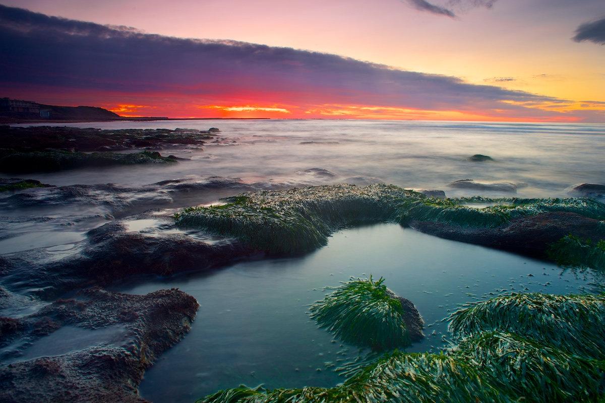 Sandon Point Sunrise Multicolour - Sandon Point Beach, Bulli