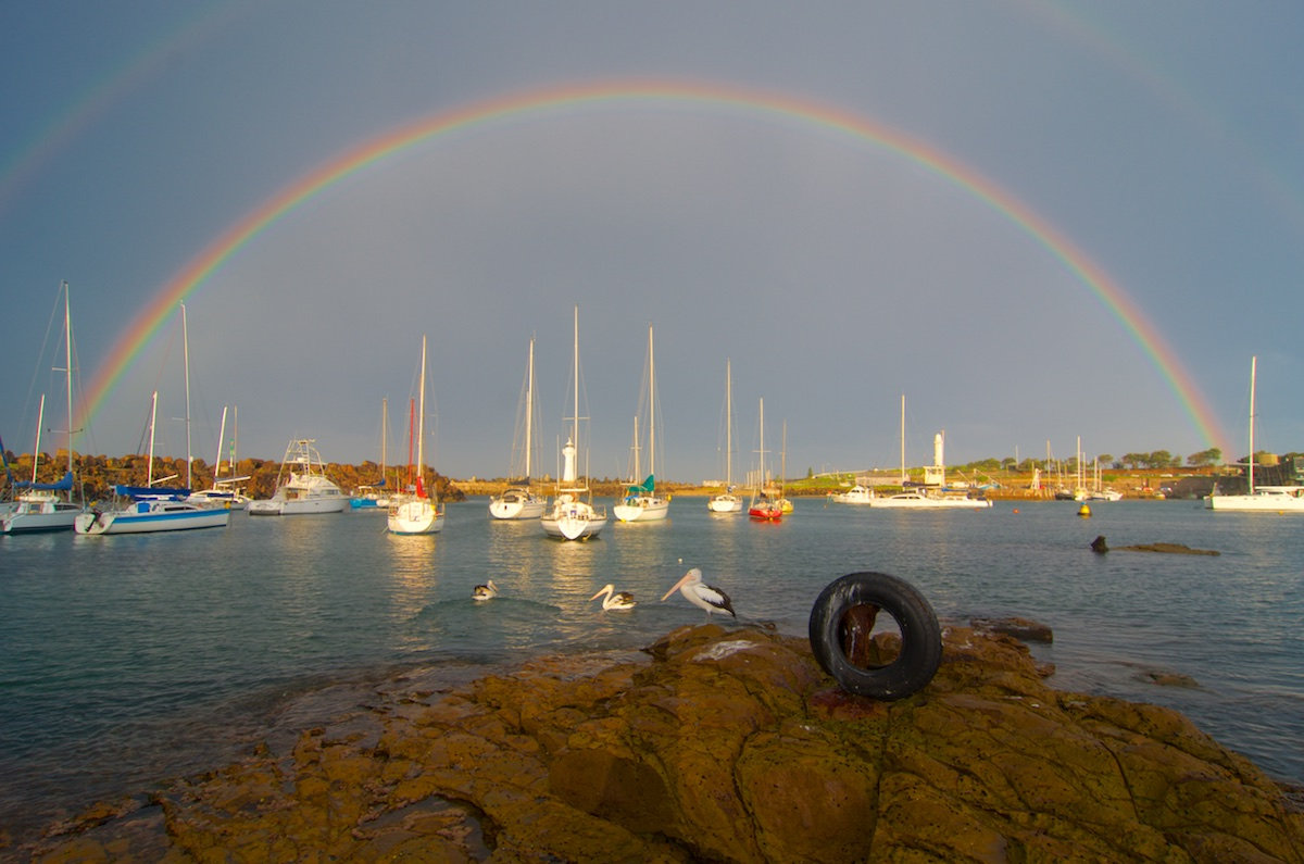 Wollongong Harbour Rainbow - Belmore Basin / Wollongong Harbour