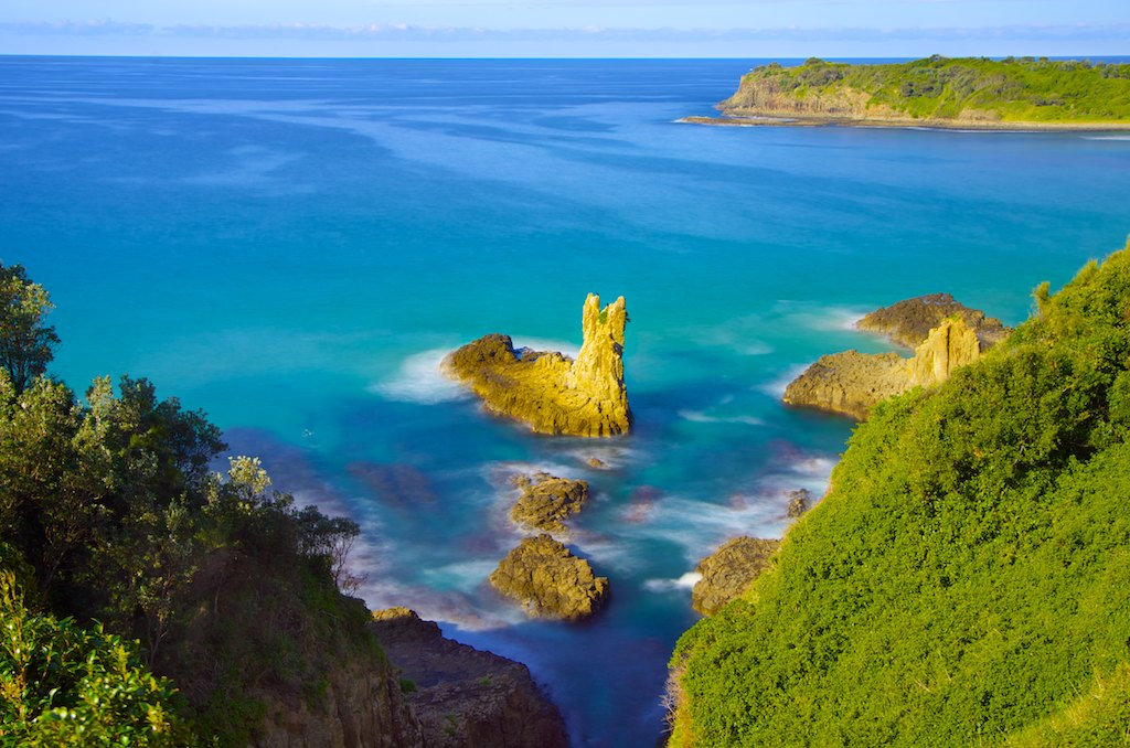 Sunny Cathedral Rocks - Kiama Downs, NSW, Australia