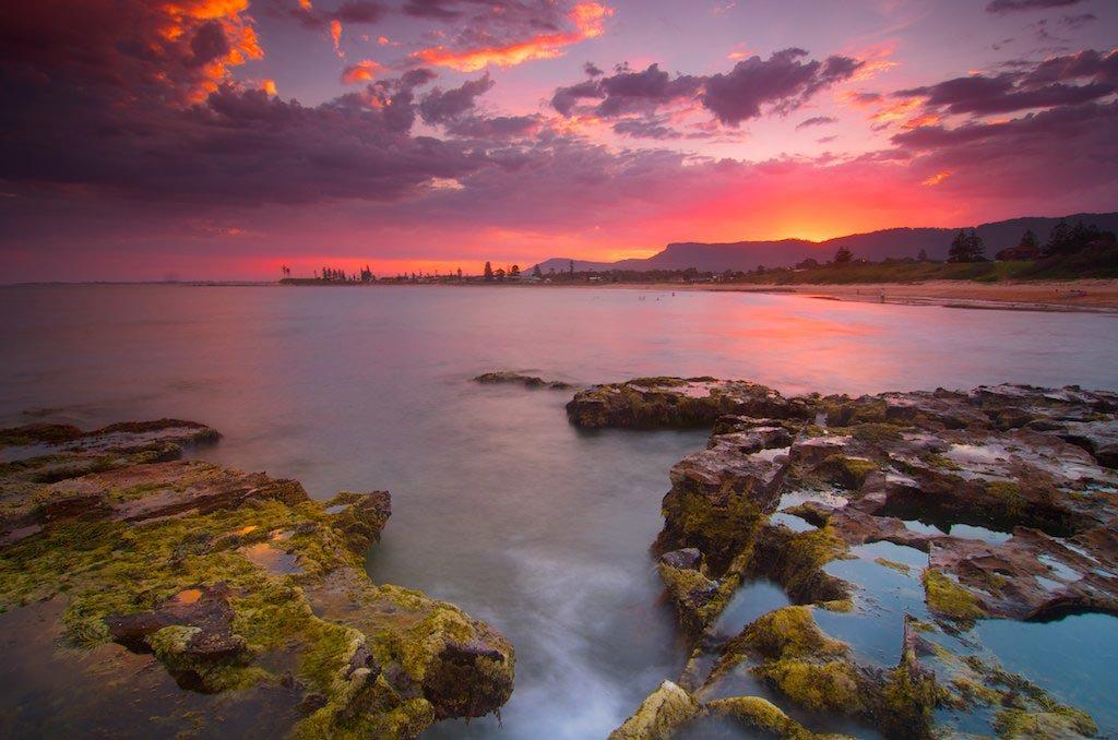 Sandon Point Sunset - Sandon Point, Bulli, NSW, Australia
