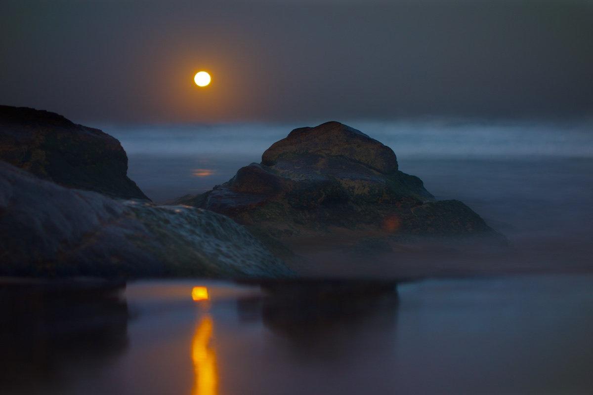 Miniature Reef Moonrise - Sandon Point Beach, Bulli