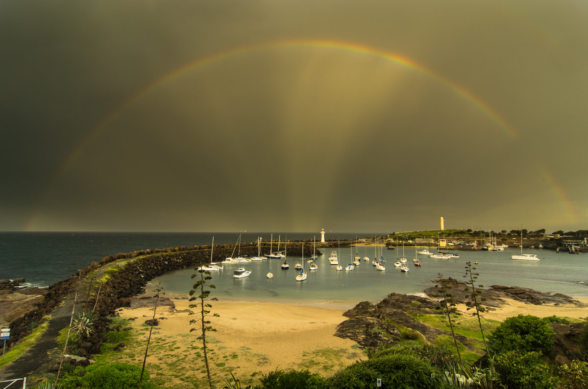 Wollongong Harbour -  A Golden Rainbow - Belmore Basin / Wollongong Harbo