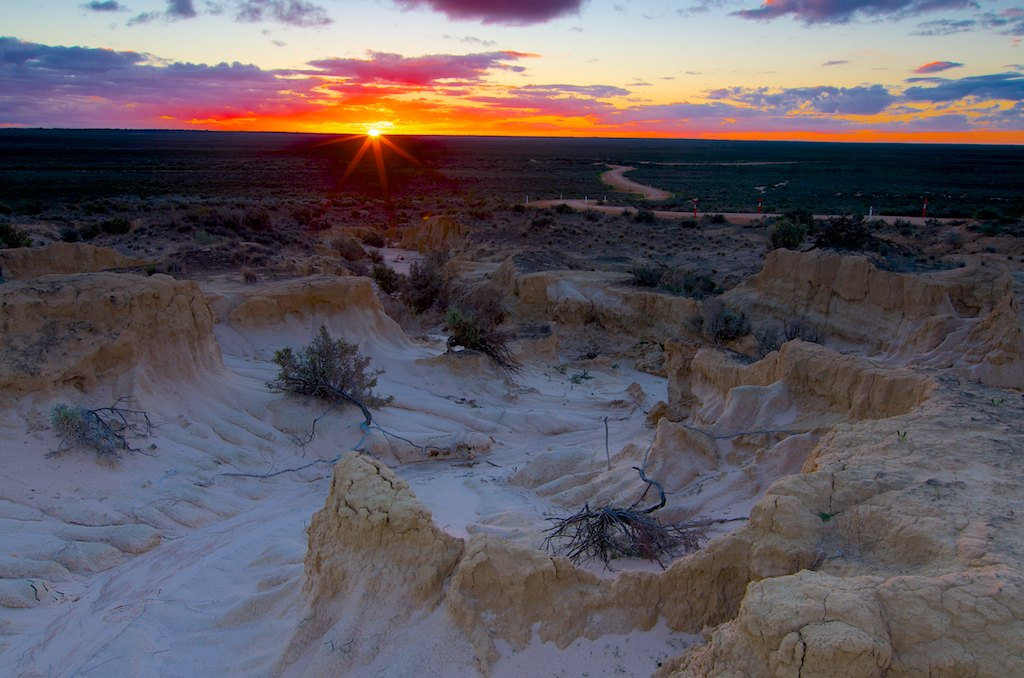 Outback Sunset - Mungo National Park, NSW, Australia