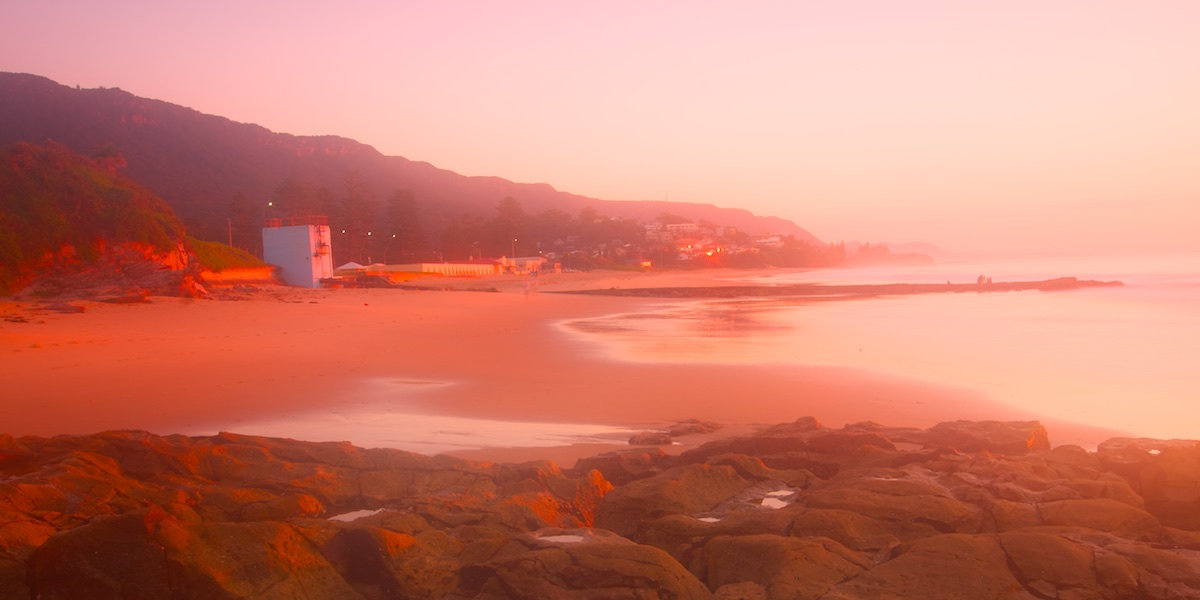 Thirroul Beach Sunrise Panorama - Pink Dreamy Morning - Thirroul