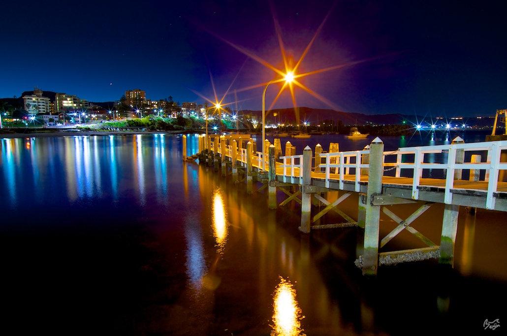 Wollongong Harbour Lights - Belmore Basin, Wollongong, NSW, Australia