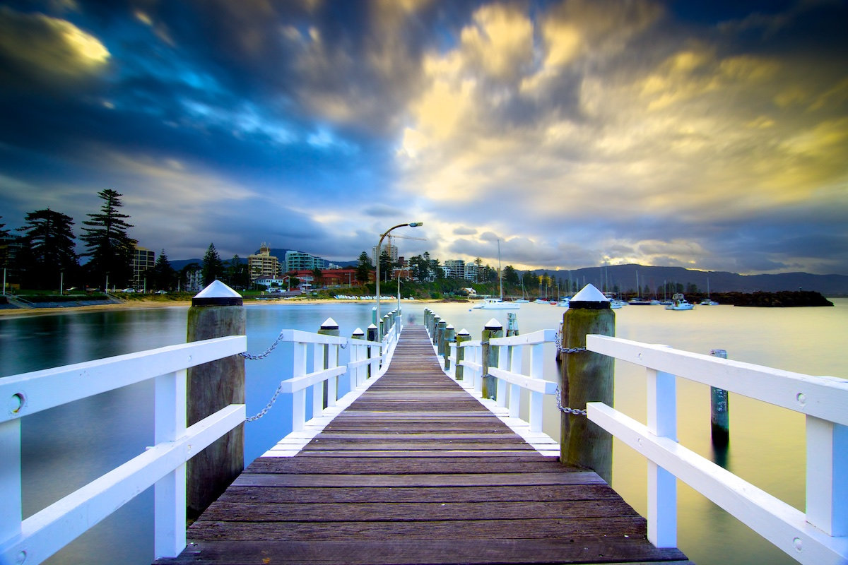Belmore Basin Wharf - Colourful Clouds - Belmore Basin / Wollongong Harbour