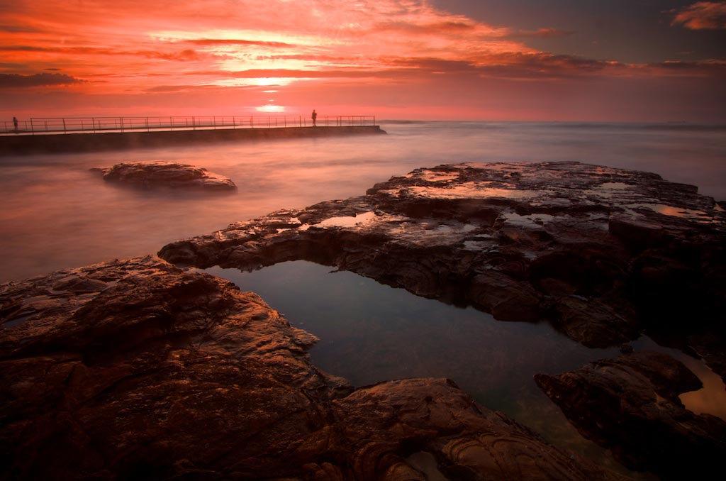 Bulli Rock Pool Sunrise - Bulli Beach, NSW, Australia