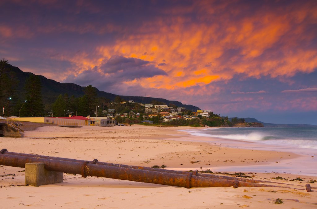 Thirroul Beach Sunset - Thirroul, NSW, Australia