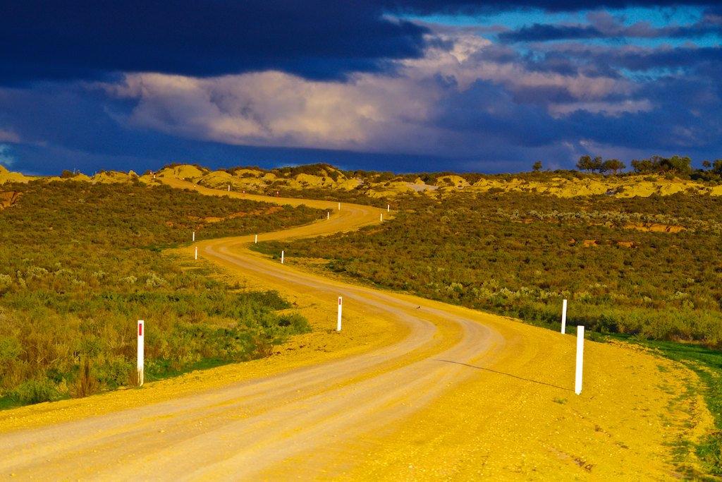 Outback Road - Mungo National Park, NSW, Australia