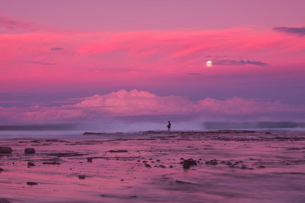 Sandon Point Majestic Moonrise - Sandon Point, Bulli, NSW, Australia